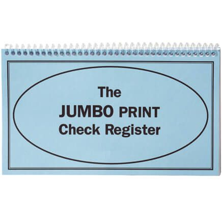 Large Print Check Register-306558