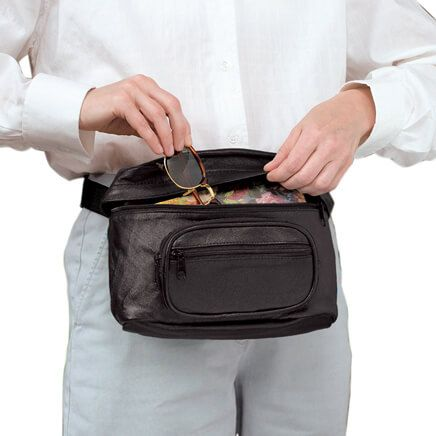 Oversized Leather Waist Bag-309912