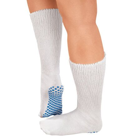 Diabetic Slipper Socks With Gripper Soles-336019