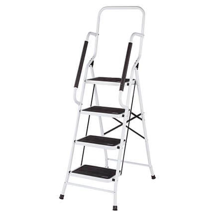Folding Four Step Ladder with Handrails by LivingSURE™    XL-354173