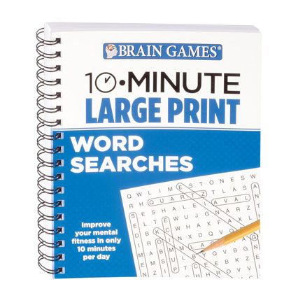 Brain Games® 10-Minute Large Print Word Search Book-358685