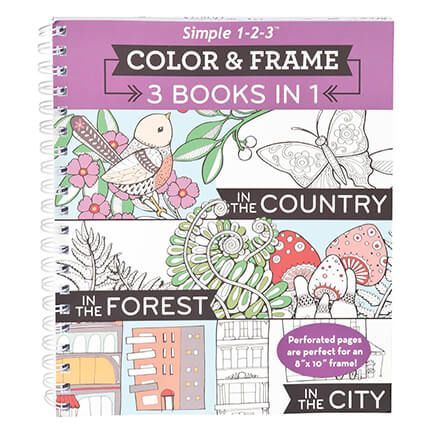 Simple 1-2-3 Color and Frame Country, Forest & City-358868