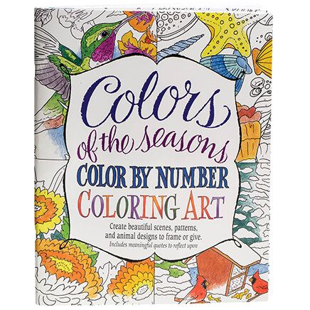 Colors of the Seasons Color by Number Coloring Book-359712