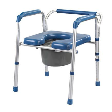 Folding Commode with Padded Seat     XL-361893