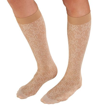 Celeste Stein Lace Compression Socks, 8-15 mmHg-362443