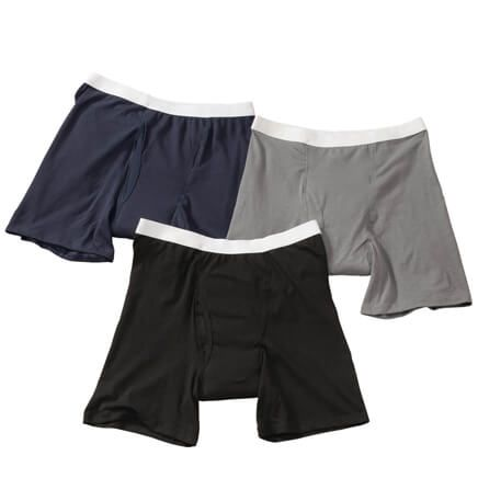 Men's 10 oz. Boxer Briefs, 3-Pack Assorted Colors-365555