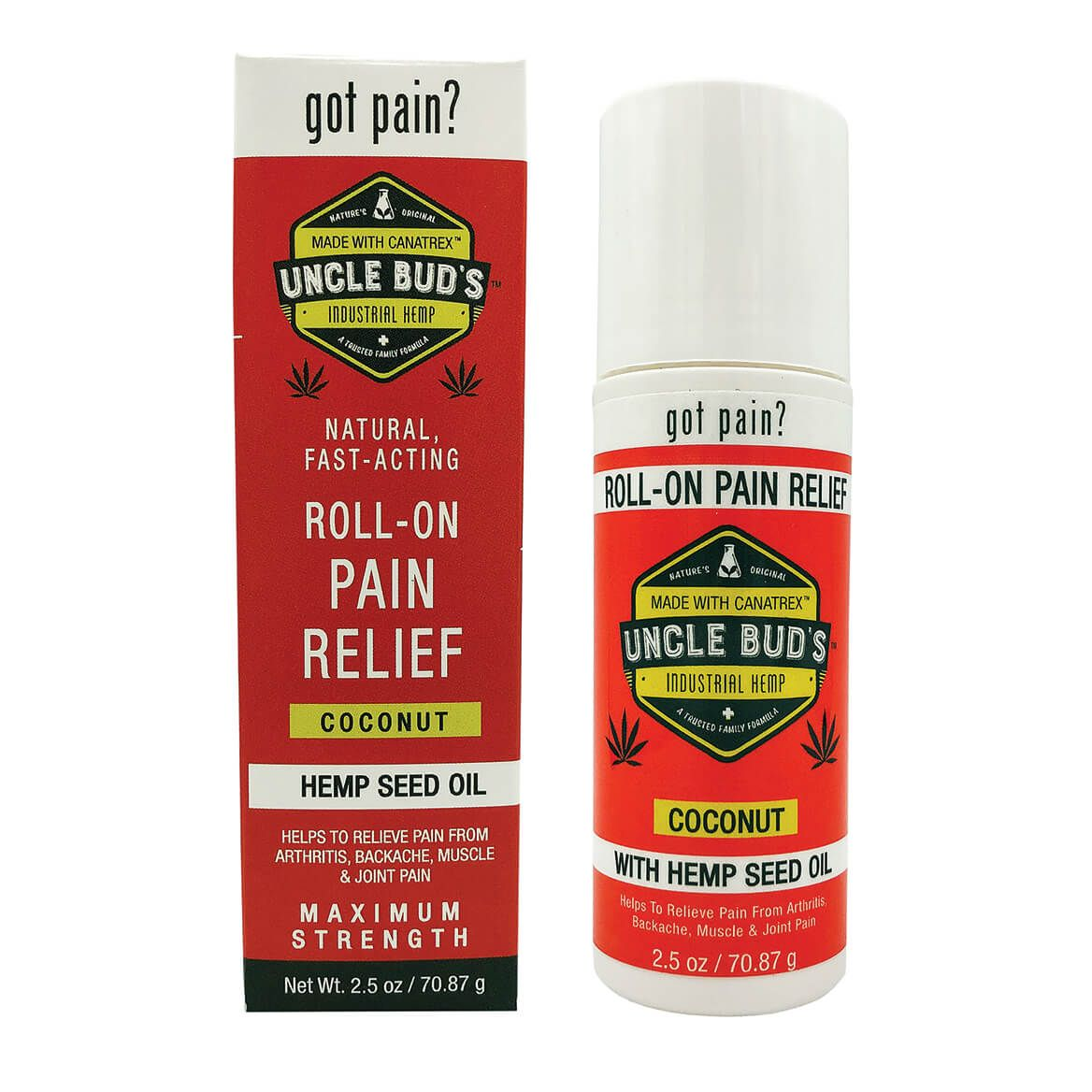 Uncle Bud's Pain Relieving Roll-On with Pure Hemp Seed Oil-367042