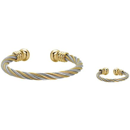 Twist Magnetic Therapy Cuff and Ring Set-368497