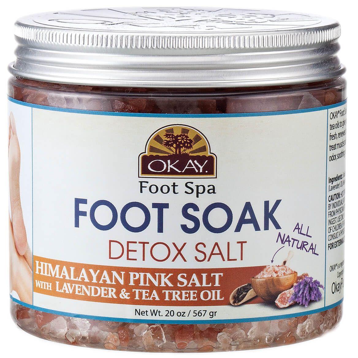 OKAY® Foot Soak Detox Salt – Himalayan Pink Salt with Lavender & Tea Tree Oil-368990