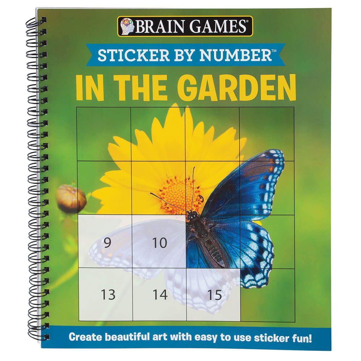Brain Games® Sticker by Number In The Garden Book-370345