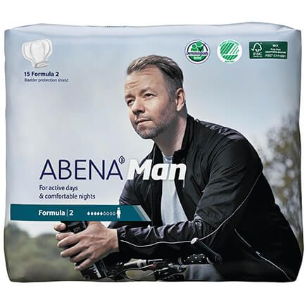ABENA® Man Bladder Protection Shields, Pack of 15-371375