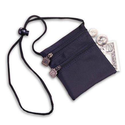 Neck Wallet-Black w/RFID-302558