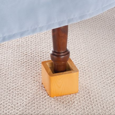 Wood Bed Risers - Set Of 4-308284