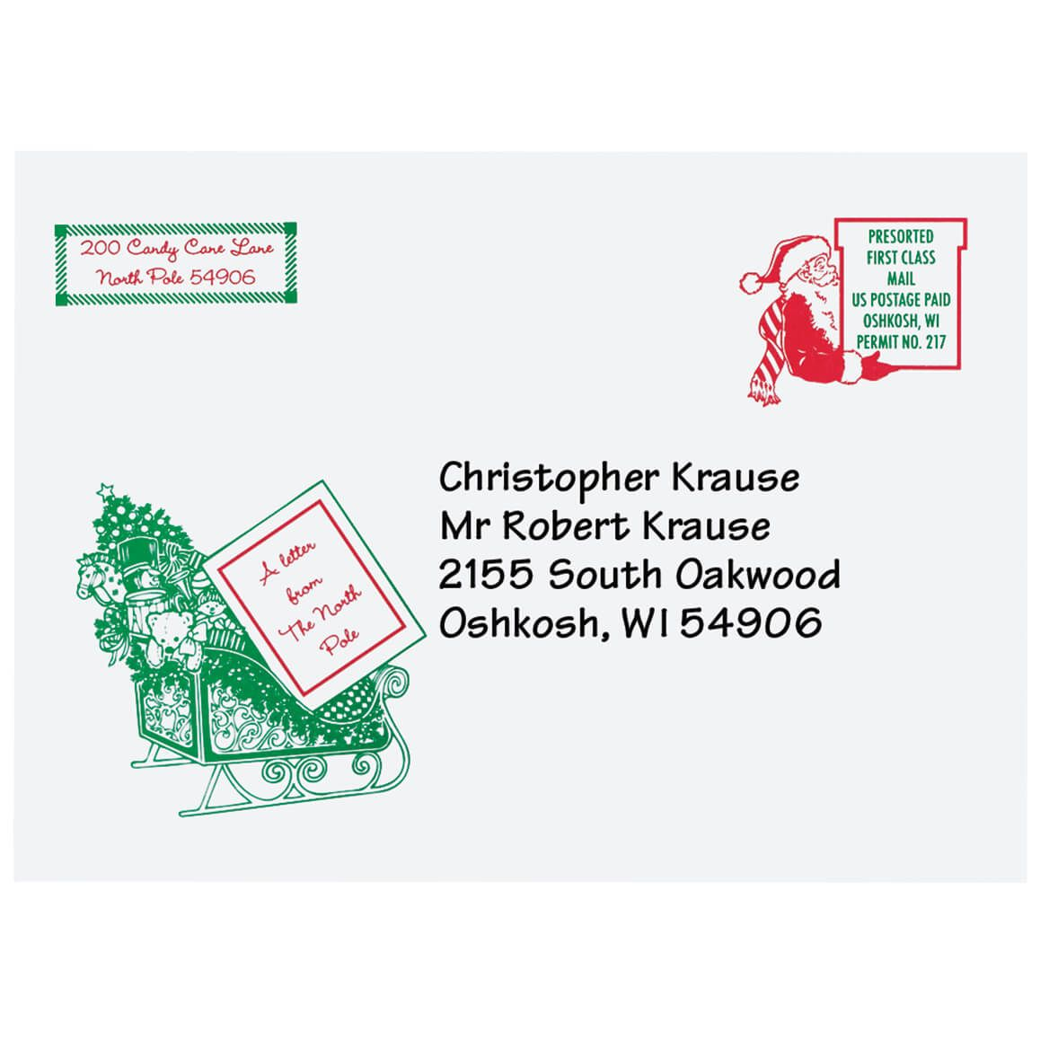 Personalized Letter From Santa and Ornament-310285