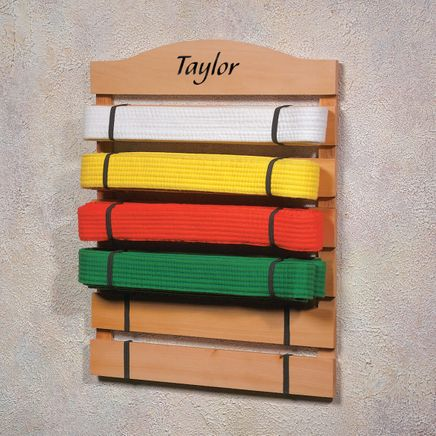 Personalized Karate Belt Rack-310539