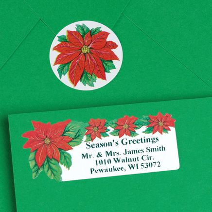 Poinsettia Labels and Seals Set-310884