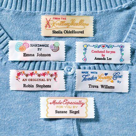 Personal Handiwork Labels - Pack Of 20-310902