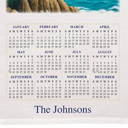Personalized Lighthouse Calendar Towel-310964