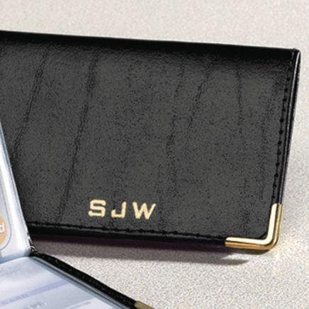 Personalized Leather Credit Card Holder-312375