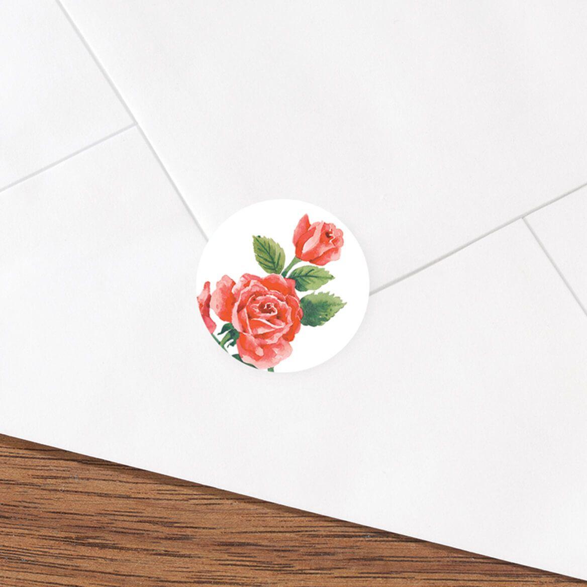 Floral Medley Envelope Seals Set of 250-312892