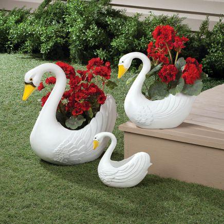 Swan Planters Set of 3-313123