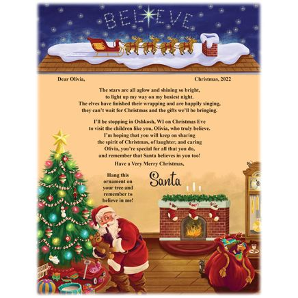 Personalized I believe Santa Letter and Ornament-315168