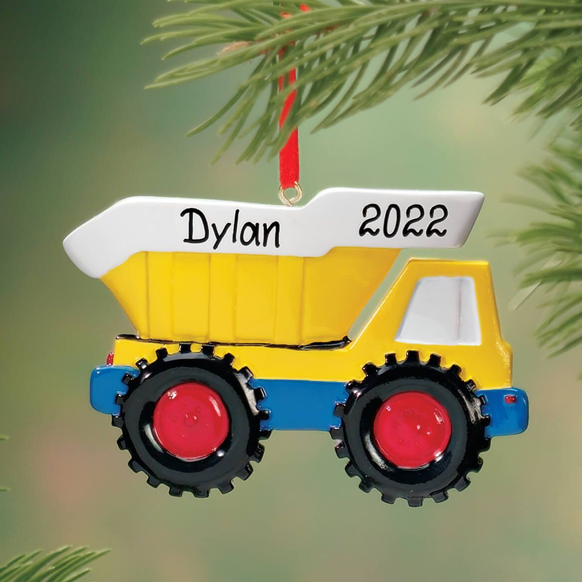 Personalized Dump Truck Ornament-316695