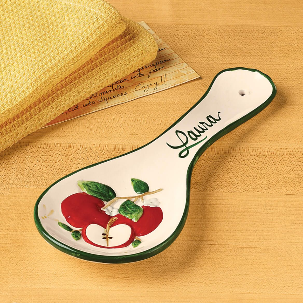 Personalized Apple Spoon Rest-319486