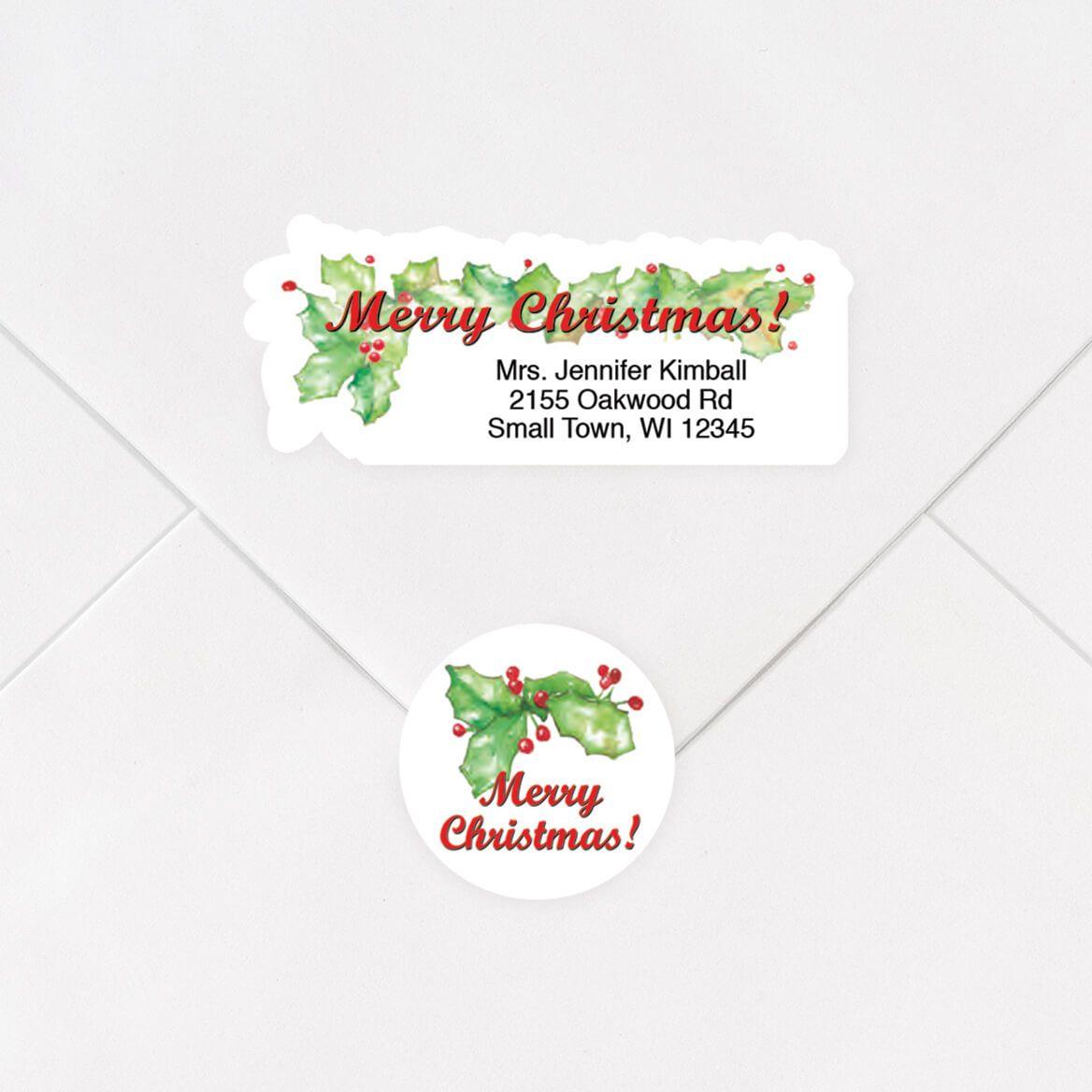 Merry Christmas Labels & Envelope Seals Set-325252