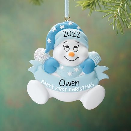 Personalized Snowbaby's First Christmas Ornament-330783