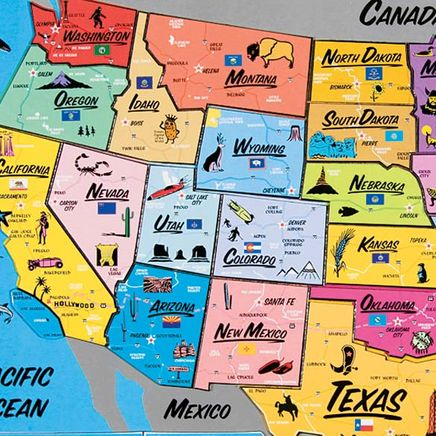 USA Magnetic Puzzle Map-331252