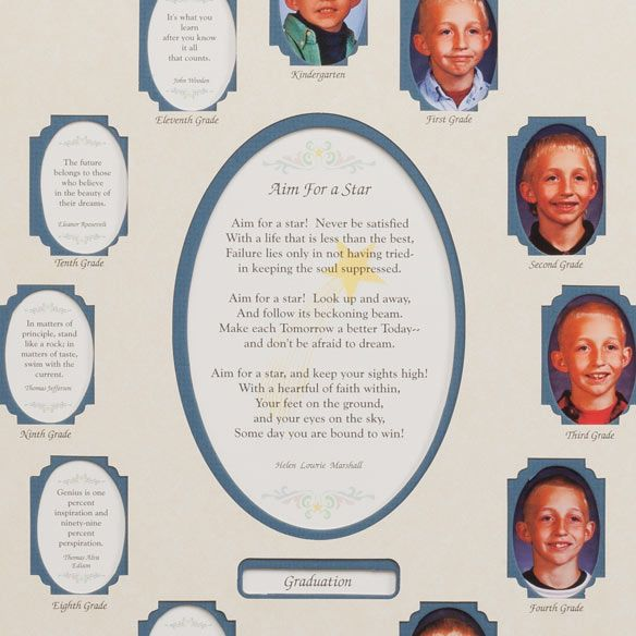 School Years Collage Frame - Blue-334006