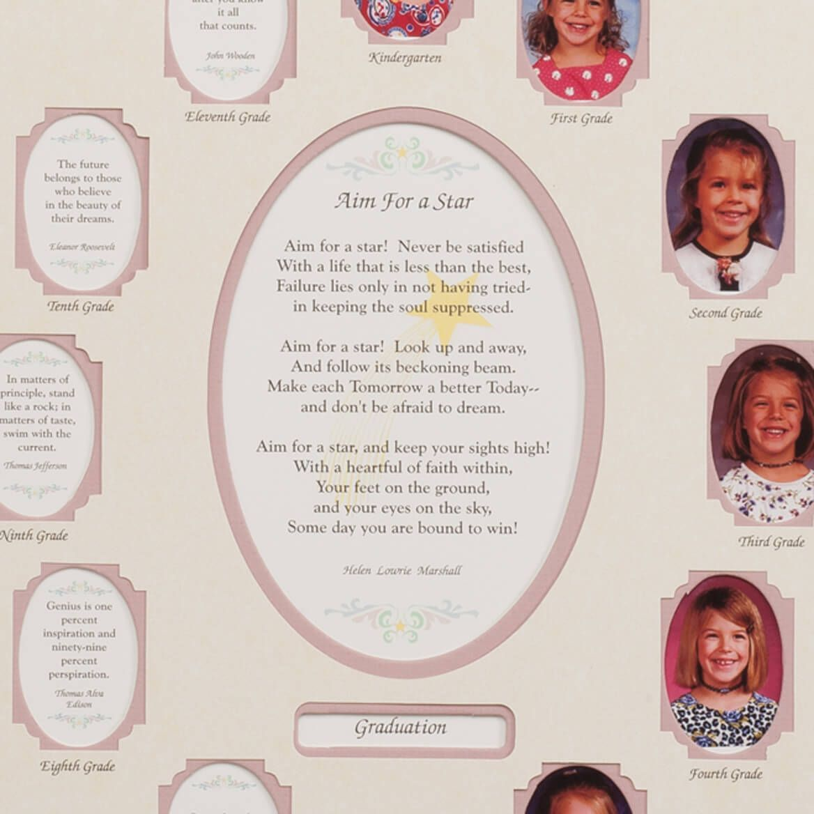 School Years Collage Frame - Pink-334007