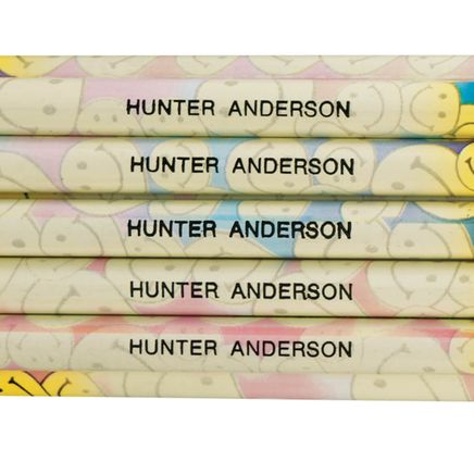 Personalized Happy Face Pencils, Set of 12-335691