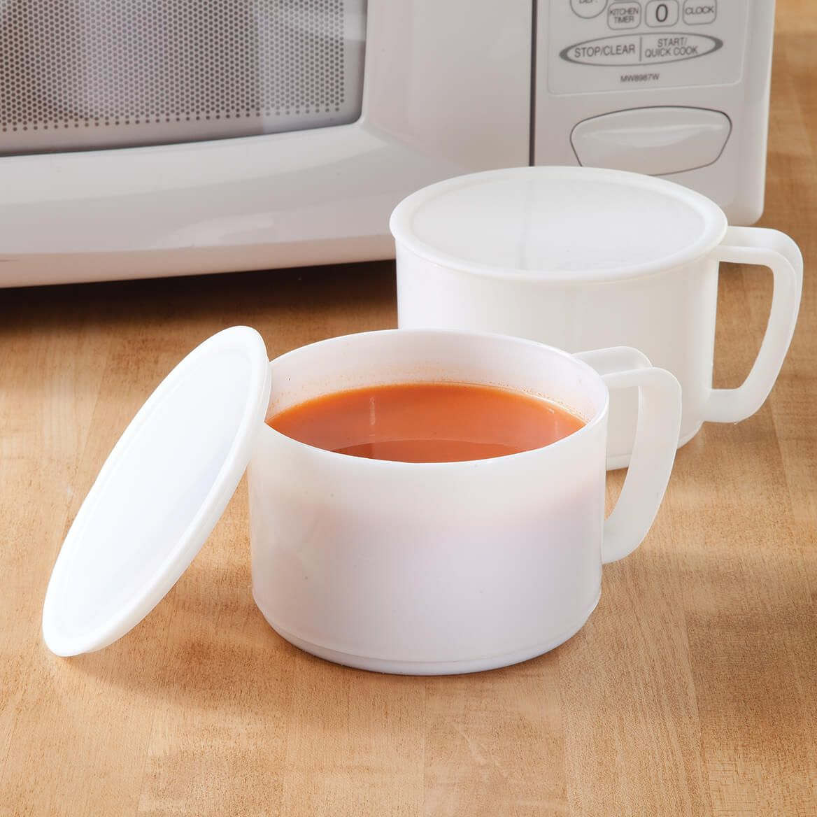Microwave Bowl with Lid Set of 4-337096