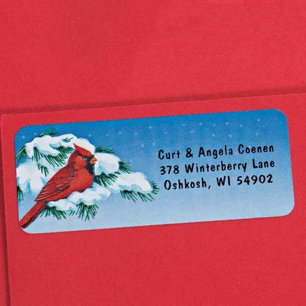 Snowy Cardinal Labels - 250-338748
