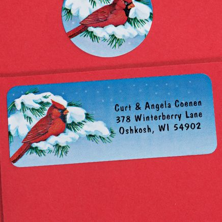 Snowy Cardinal Labels and Seals Set-338750