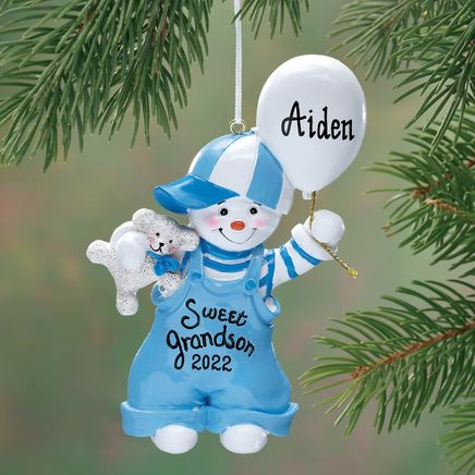 Personalized Sweet Grandson Ornament-339019