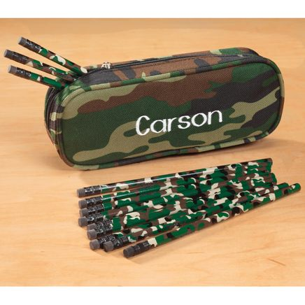 Personalized Camouflage Pencil Case and Pencil Set-339091