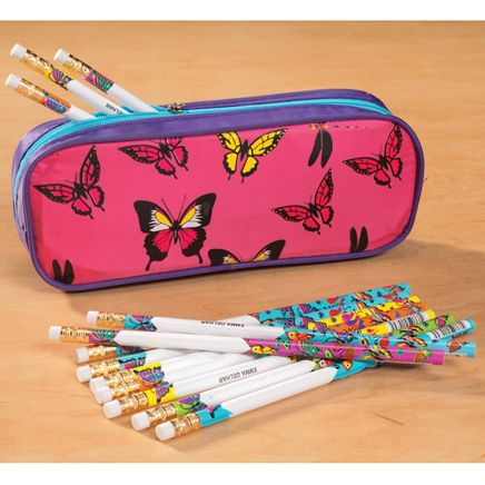 Personalized Butterfly Pencil Case and Pencil Set-339092