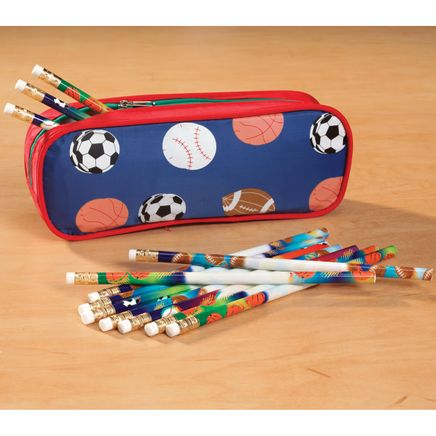 Personalized Sports Pencil Case Set-339093