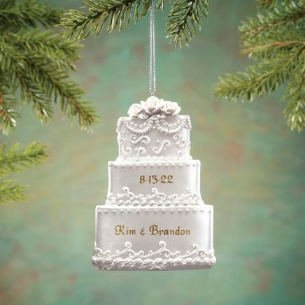Personalized Wedding Cake Ornament-342572