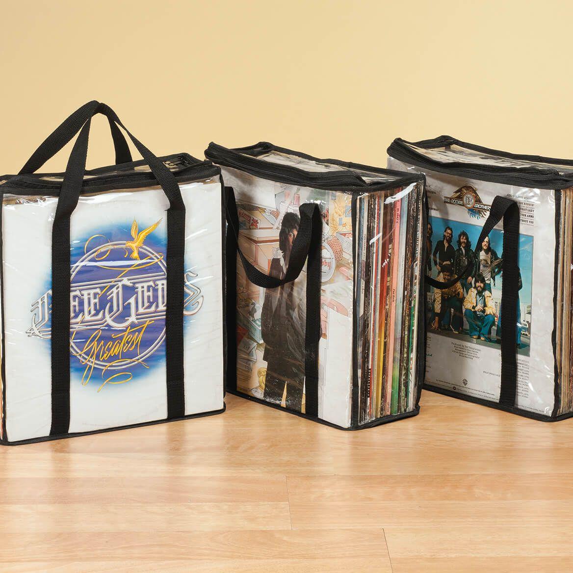 Vintage Record Album Protectors Set of 3 in Black-342792
