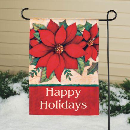 Poinsettia Garden Flag-342900