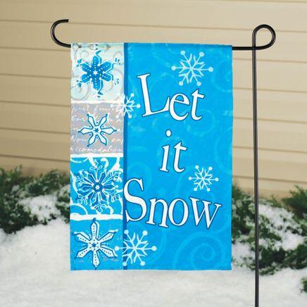 Let It Snow Winter Garden Flag-342901