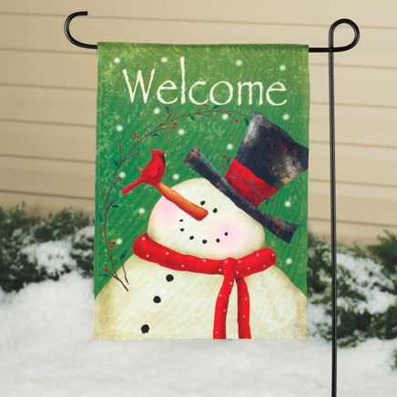 Snowman Garden Flag-342902