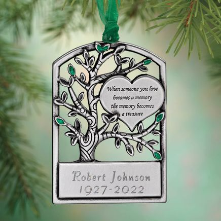 Personalized Pewter Memorial Tree Ornament-343048