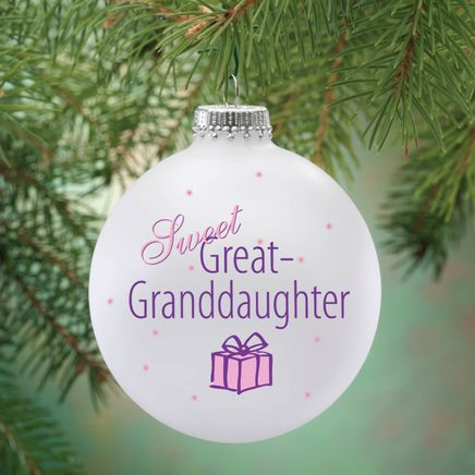 Personalized Sweet Great Granddaughter Ball Ornament-343089