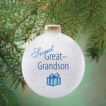 Personalized Sweet Great Grandson Ball Ornament-343091