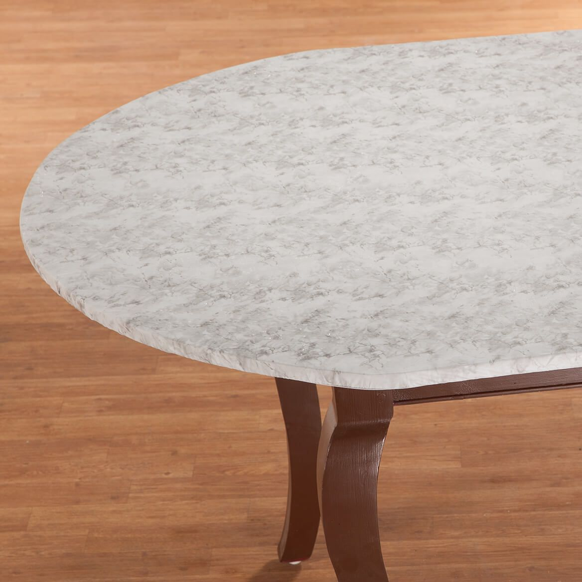 Marbled Vinyl Elasticized Table Cover-344623